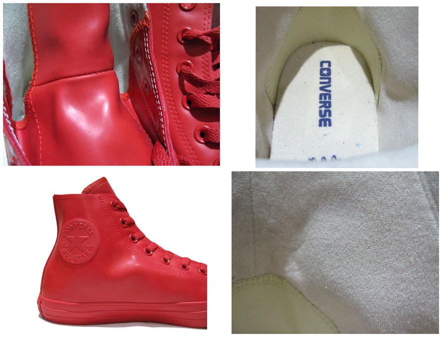 """画像5: NEW Converse """"ALL STAR"""" Hi-Cut Rubber Sneaker RED size 9"""