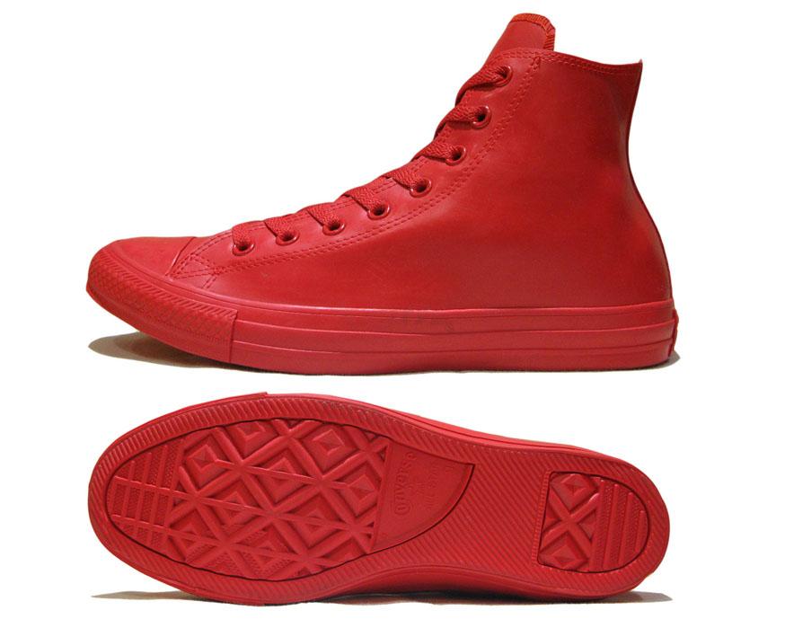 """画像3: NEW Converse """"ALL STAR"""" Hi-Cut Rubber Sneaker RED size 9"""