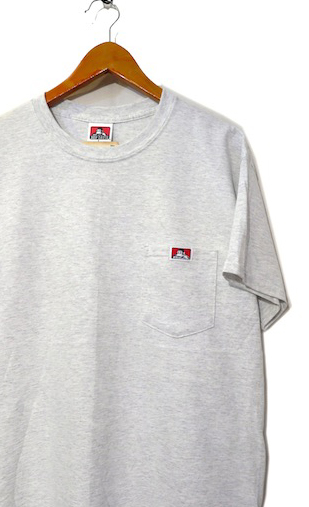 "画像1: BEN DAVIS Pocket Tee ""ASH GREY"" size S ~ 2XL"