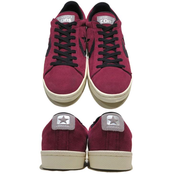 """画像2: NEW CONVERSE """"PRO LEATHER LOW"""" Suede Skate Shoes  -NIKE ルナロンソール- Burgundy/Black size 8.5 , 9.5 , 10 , 10.5 , 12"""