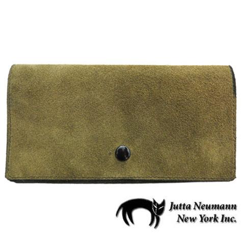 """画像1: """"JUTTA NEUMANN"""" Leather Wallet """"the Waiter's Wallet""""  -Suede-  color : Suede Green / Lime Green"""