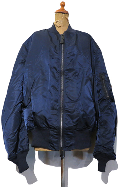 "画像1: 1990's ""ALPHA INDUSTRIES"" MA-1 Flight Jacket  DEAD STOCK  made in U.S.A. NAVY size XX-LARGE"