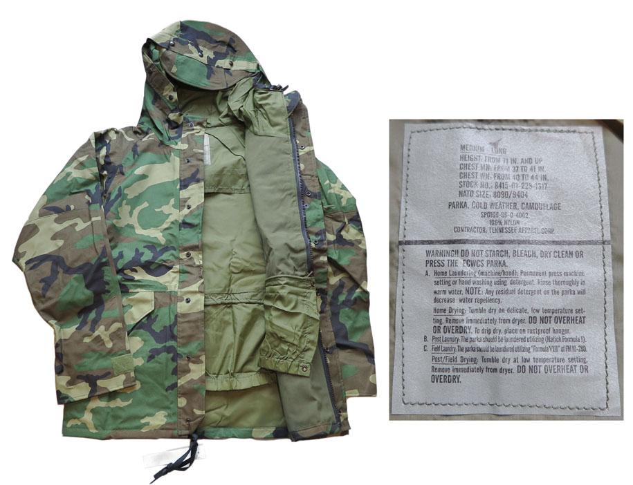 """画像3: 1990's U.S. ARMY  ECWCS """"GEN I"""" Gore-Tex Parka  Dead Stock Woodland Camouflage size MEDIUM - LONG"""