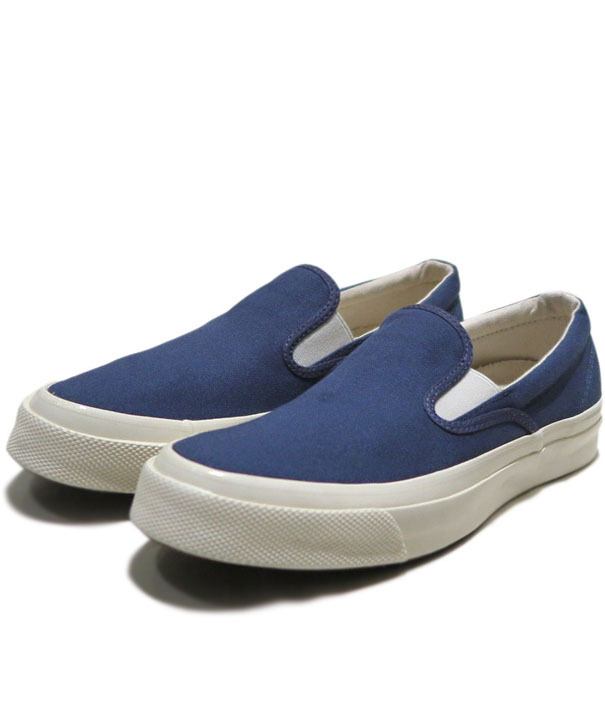 "画像1: NEW Converse ""First String"" DECK STAR  Slip-On Canvas Sneaker NAVY"