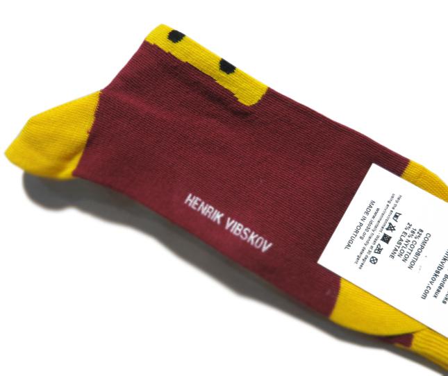 """画像3: E) HENRIK VIBSKOV """"Osteria Socks"""" color : Bordeaux size FREE"""