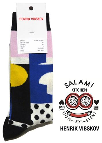 """画像1: B) HENRIK VIBSKOV """"Balance Socks"""" color : Blue & Pink size FREE"""