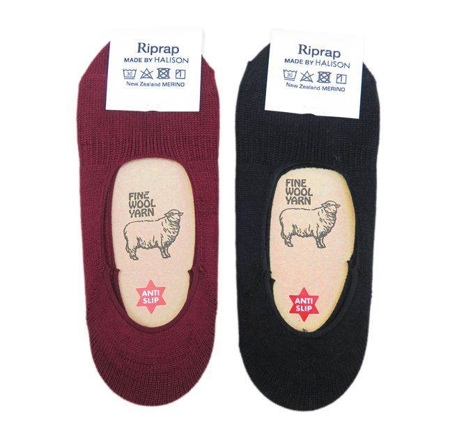 "画像5: Riprap HALISON Nz MERINO ""INVISIBLE SOCKS"" color : MAROON size FREE (25~27cm)"