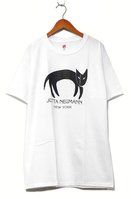 画像1: JUTTA NEUMANN Print T-Shirts White / Black size MEDIUM