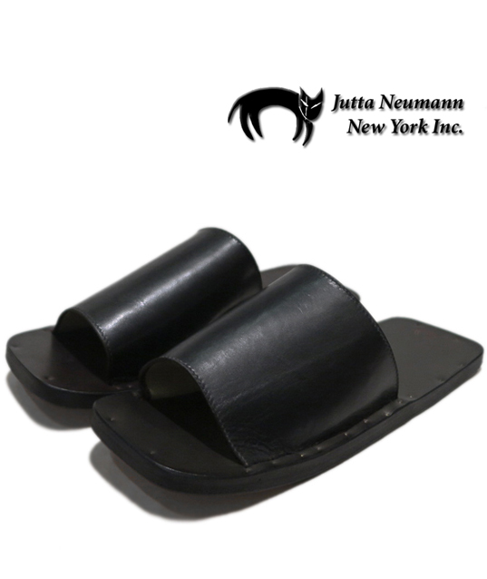 "画像1: JUTTA NEUMANN ""SAM"" BLACK Leather Sandal size 7 D"