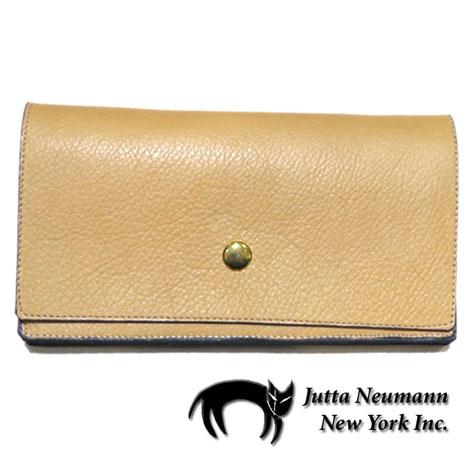 """画像1: """"JUTTA NEUMANN"""" Leather Wallet """"the Waiter's Wallet""""  color : Camel Shine / Lavender 長財布"""