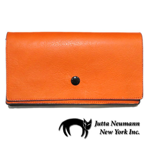 "画像1: ""JUTTA NEUMANN"" Leather Wallet ""the Waiter's Wallet""  color : Orange / Purple 長財布"
