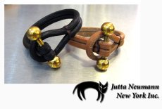 画像3: JUTTA NEUMANN Leather Wrist Band ブレスレット color : Dark Brown size : S, M, L (3)