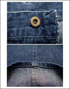 """画像3: 1940's """"US NAVY"""" Denim Baker Trousers size w 31 inch 月桂樹ボタン (3)"""