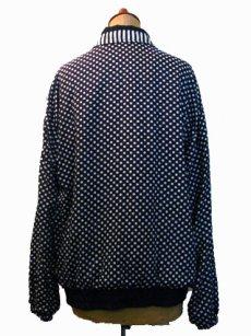 """画像2: 1980's """"BLAIR BOUTIQUE"""" Dot / Stripe Nylon Design Jacket size M (2)"""