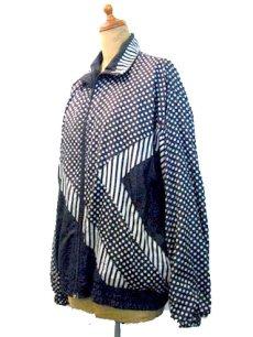"""画像3: 1980's """"BLAIR BOUTIQUE"""" Dot / Stripe Nylon Design Jacket size M (3)"""