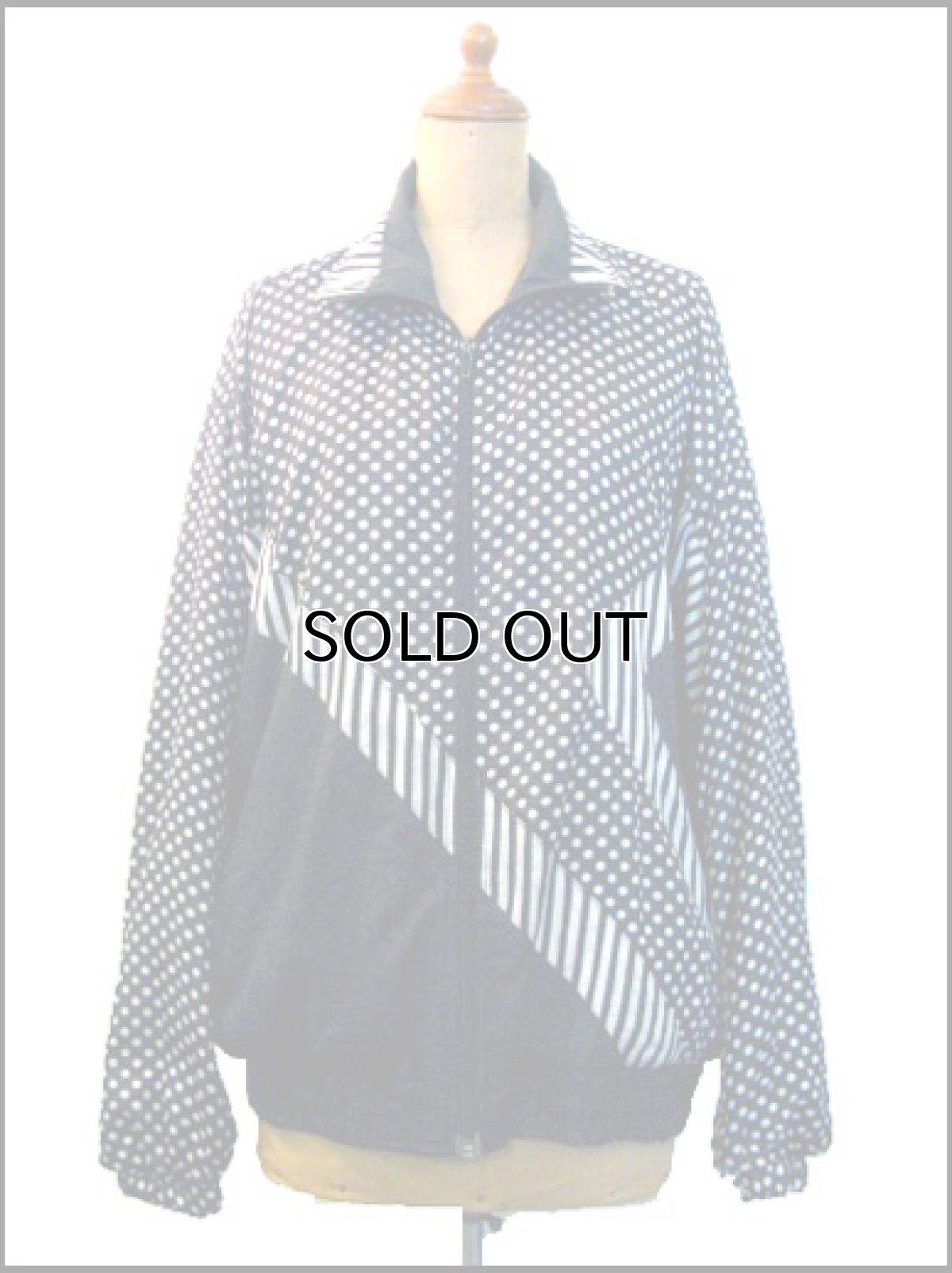 """画像1: 1980's """"BLAIR BOUTIQUE"""" Dot / Stripe Nylon Design Jacket size M (1)"""