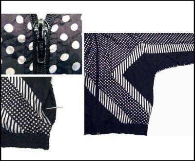 """画像3: 1980's """"BLAIR BOUTIQUE"""" Dot / Stripe Nylon Design Jacket size M"""