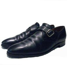 """画像1: JHON LOBB PARIS """" Fould """" Monk Strap Leather Shoes size 8 1/2 D (1)"""