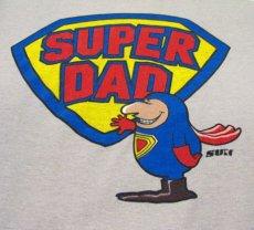 """画像2: 1980's """"SUPER DAD"""" Tee made in USA size M (2)"""
