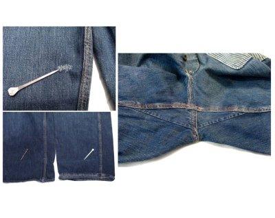 """画像3: 1950's """"L.A.P.D."""" Prisoner Denim Trousers size w 33 inch"""