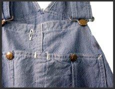 """画像3: 1950's """"H.D.Lee"""" Pin Stripe Overall """"ロングL ボタン"""" (3)"""