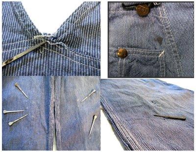 """画像1: 1950's """"H.D.Lee"""" Pin Stripe Overall """"ロングL ボタン"""""""