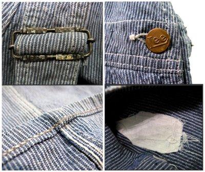 """画像2: 1950's """"H.D.Lee"""" Pin Stripe Overall """"ロングL ボタン"""""""