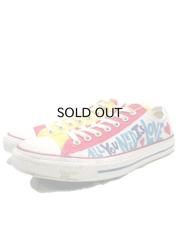 画像1: 00's~ CONVERSE ALL STAR OX. Hand Paint Shoes size 9 1/2 (1)