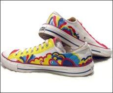 画像2: 00's~ CONVERSE ALL STAR OX. Hand Paint Shoes size 9 1/2 (2)
