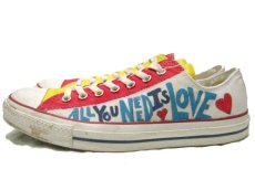 画像4: 00's~ CONVERSE ALL STAR OX. Hand Paint Shoes size 9 1/2 (4)