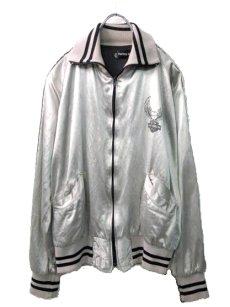画像2: 1980's HARLEY-DAVIDSON Satin Zip Up  Jacket SILVER size S (表記XS) (2)