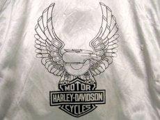 画像5: 1980's HARLEY-DAVIDSON Satin Zip Up  Jacket SILVER size S (表記XS) (5)