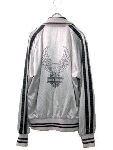 画像3: 1980's HARLEY-DAVIDSON Satin Zip Up  Jacket SILVER size S (表記XS) (3)