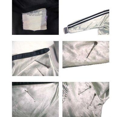 画像3: 1980's HARLEY-DAVIDSON Satin Zip Up  Jacket SILVER size S (表記XS)