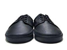画像2: VANS All Black Leather Sneaker  size (2)