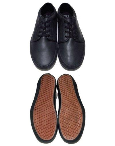 画像1: VANS All Black Leather Sneaker  size
