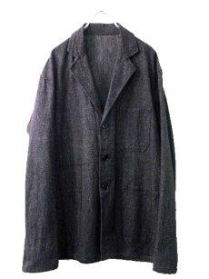 画像2: ~1950's Belgium Worker Salt & Pepper Jacket size M (表記なし) (2)