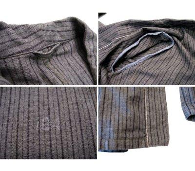 画像2: 1940's~ Swedish Cotton Stripe Prisoner Jacket size L (表記なし)