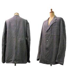 画像3: 1940's~ Swedish Cotton Stripe Prisoner Jacket size L (表記なし) (3)