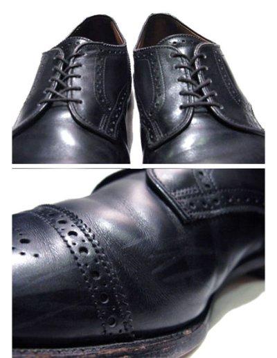 "画像2: ""Allen Edmonds"" Cap Toe Leather Shoes BLACK size 10D"