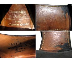 """画像4: 1980's """"Church's"""" Plain Toe Leather Shoes BLACK size 7 1/2 D (4)"""
