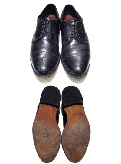 "画像1: ""Allen Edmonds"" Cap Toe Leather Shoes BLACK size 10D"