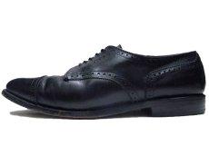 "画像2: ""Allen Edmonds"" Cap Toe Leather Shoes BLACK size 10D (2)"