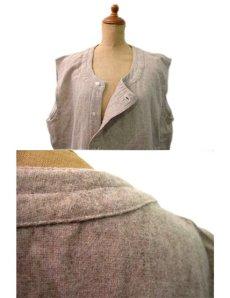 画像3: 1950's~ French Cotton / Wool Vest size L  (表記無し) (3)
