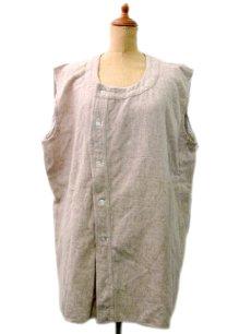 画像1: 1950's~ French Cotton / Wool Vest size L  (表記無し) (1)
