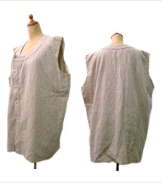 画像2: 1950's~ French Cotton / Wool Vest size L  (表記無し) (2)