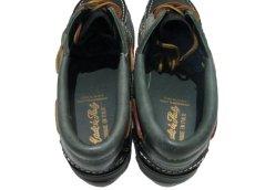 画像4: 1980's made in Italy Two-Tone Leather Deck Shoes GREEN / BLACK size 9 (4)