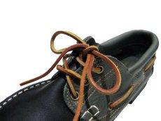 画像5: 1980's made in Italy Two-Tone Leather Deck Shoes GREEN / BLACK size 9 (5)