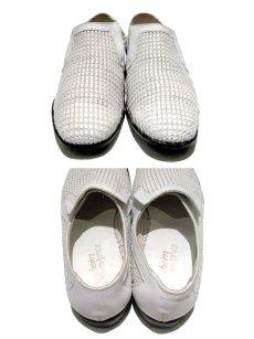 """画像3: 1970's """"Florsheim"""" Leather Mesh Shoes WHITE size 9C (3)"""