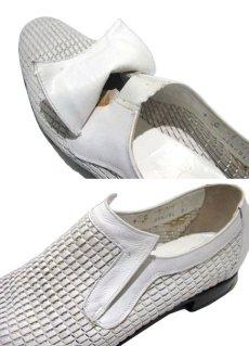 """画像5: 1970's """"Florsheim"""" Leather Mesh Shoes WHITE size 9C (5)"""